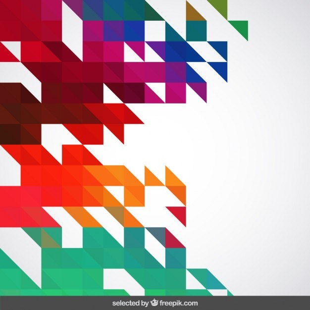 Vivid colors abstract geometric\ background