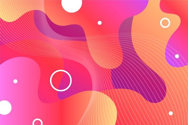 Яркие цвета абстрактный фон с фигурами Premium векторы