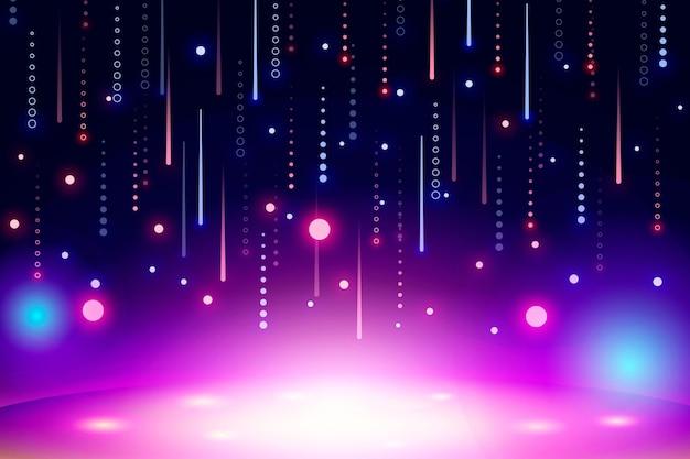 Carta da parati astratta al neon vivida Vettore gratuito