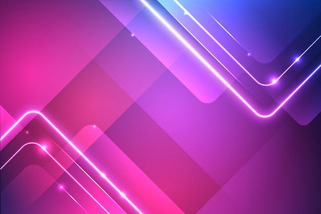Vivid neon lights background Free Vector