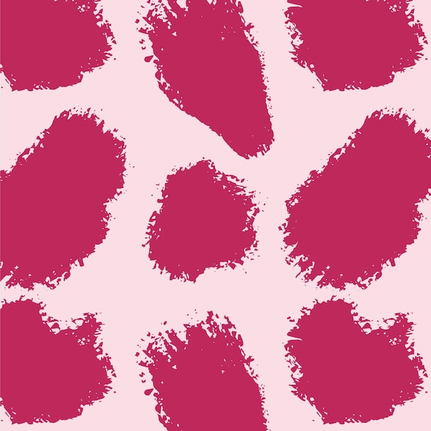 Vivid pink abstract brush stroke pattern Free Vector