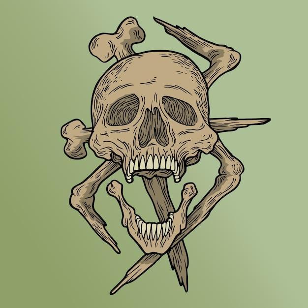 Vodoo skull Premium Vector