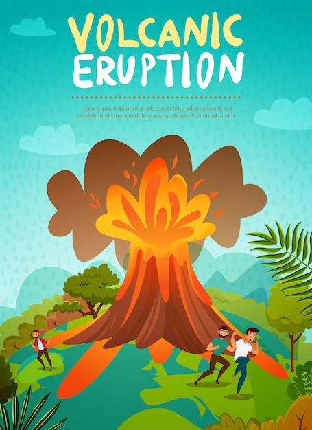 Volcano eruption Free Vector