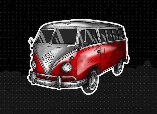 Volkswagen bus Premium Vector