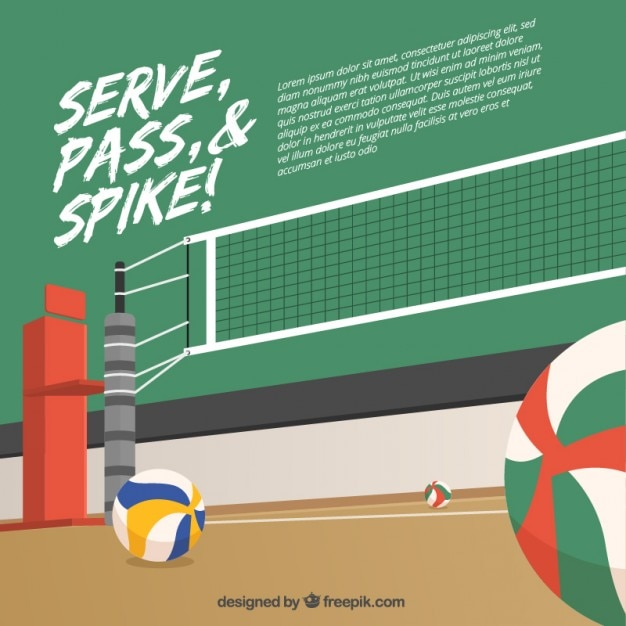 Volleyball background design
