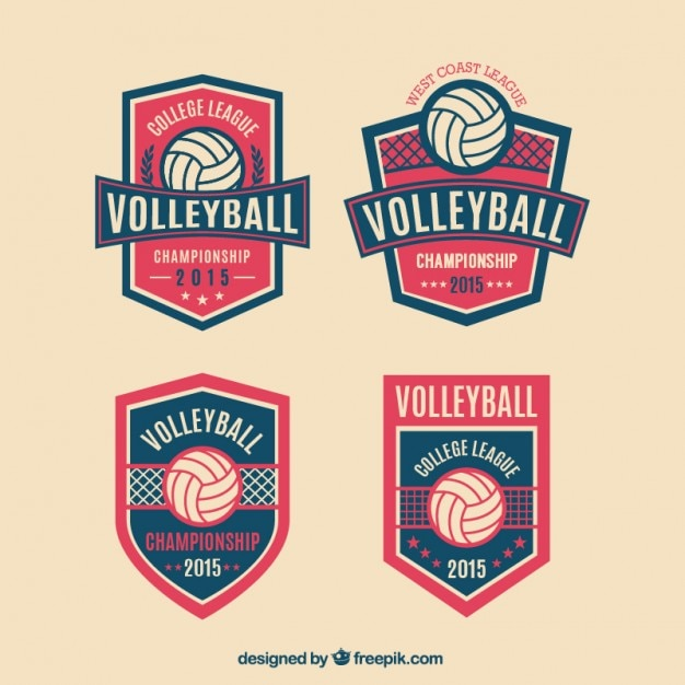 Volleyball badges pack