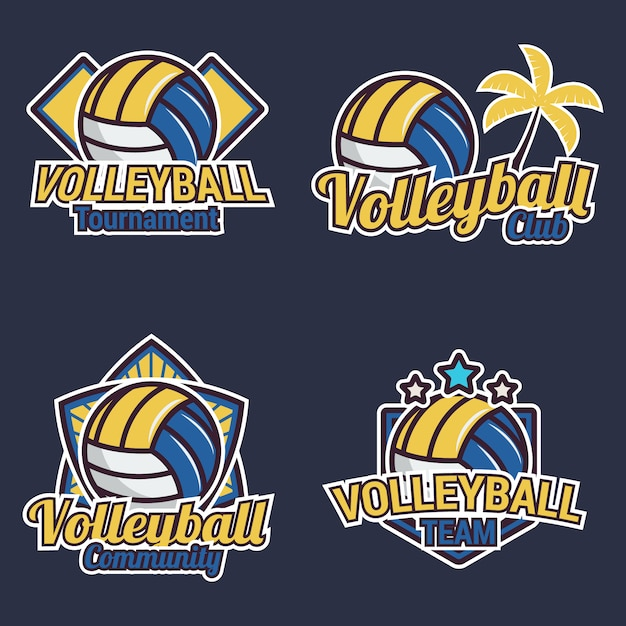 Volleyball label collection