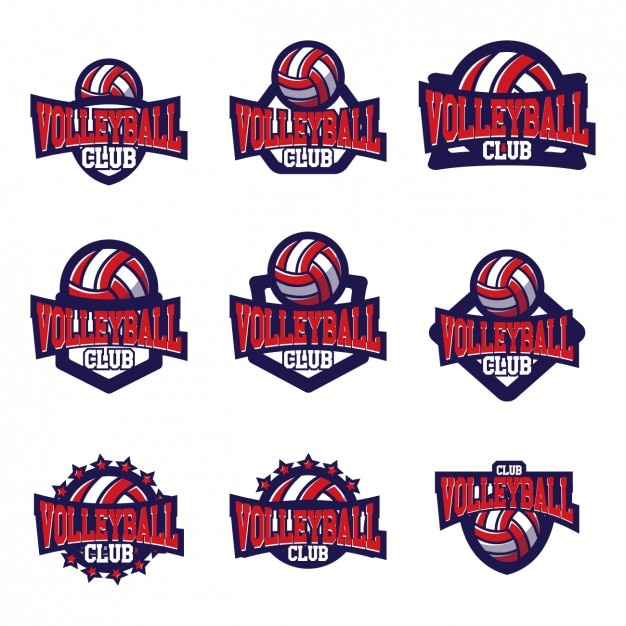volleyball logo templates design vector free download