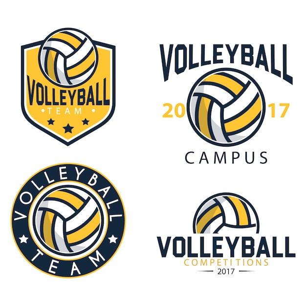 volleyball logo templates vector free download