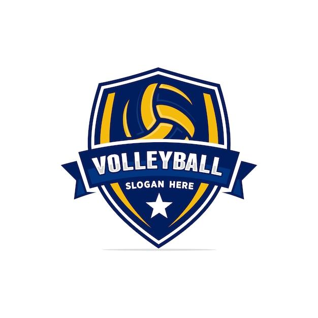 Volleyball logo vector Premium Vector