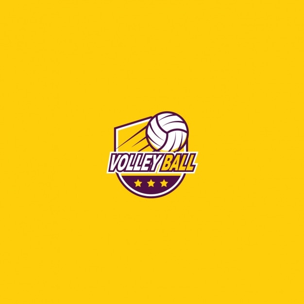 Volleyball logo with a yellow background