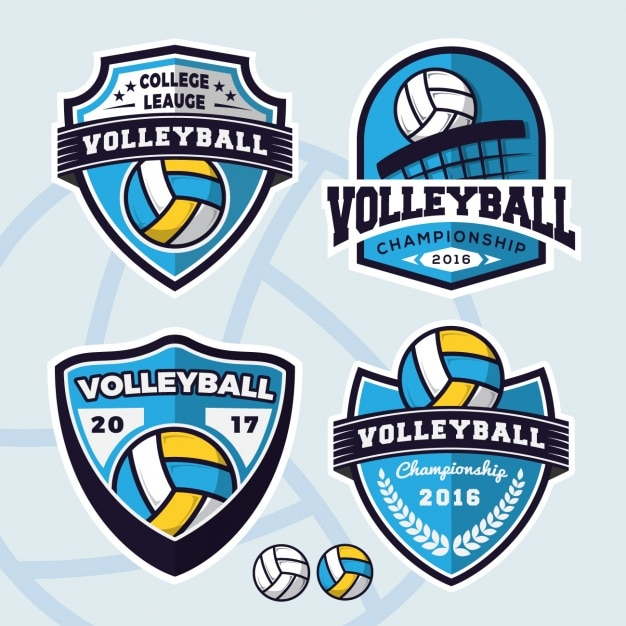 Volleyball logos collection