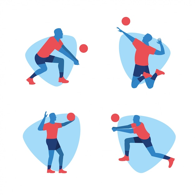 Volleyball player sports design Premium Vector