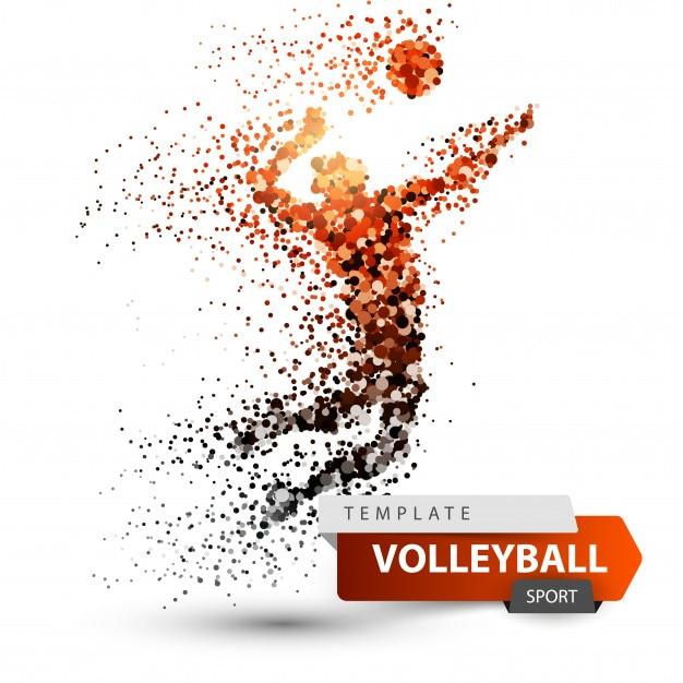 Volleyball player Premium Vector