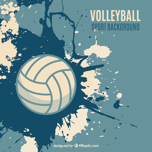 Volleyball Splatter Background