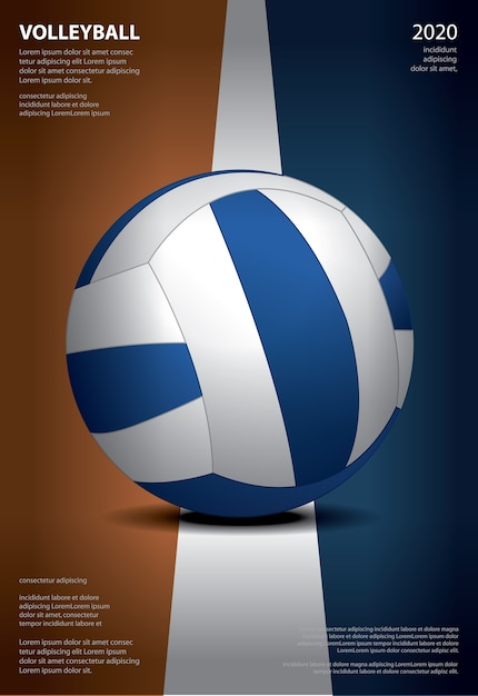 Volleyball tournament poster Free Vector