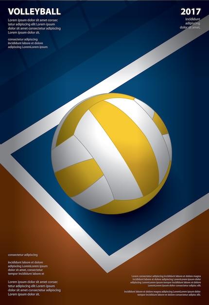 Volleyball tournament poster Premium Vector