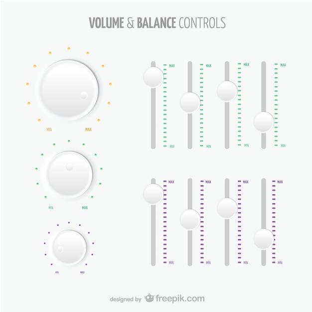 volume and balance controls vector