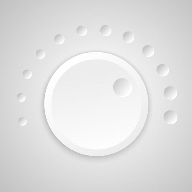 Volume button Free Vector