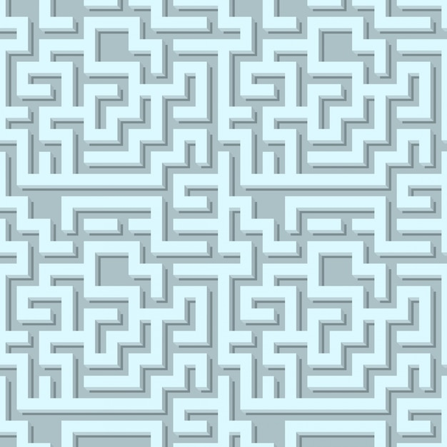 Volumetric maze pattern Free Vector