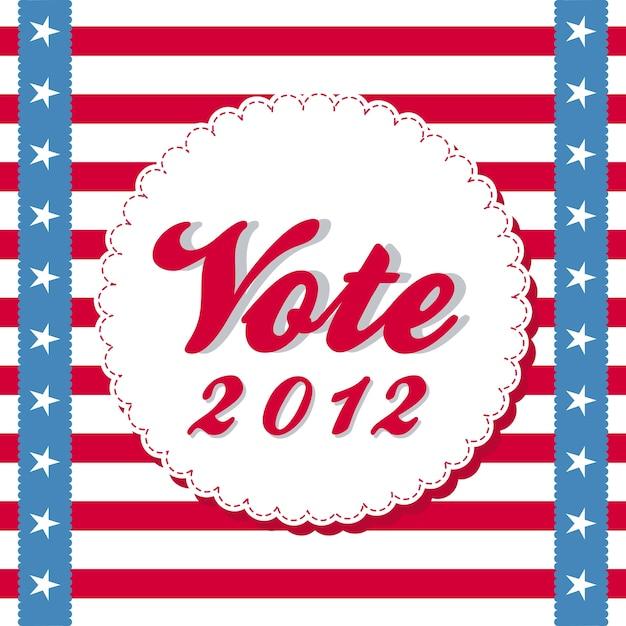 Vote 2012 background with stripes vector illustration Premium Vector