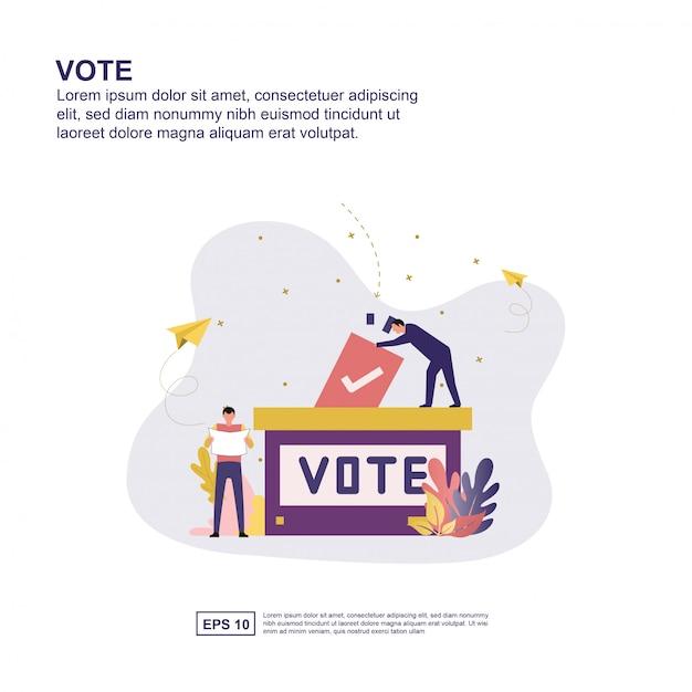 Vote concept Premium Vector