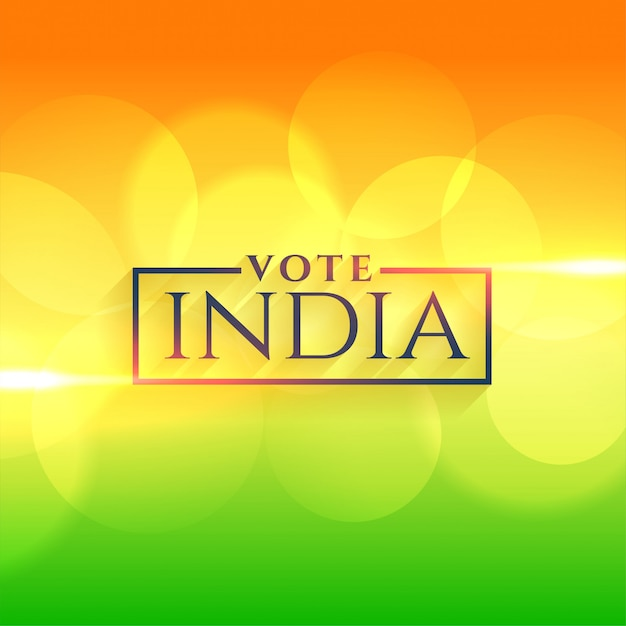 Vote india background with indian flag colors Free Vector