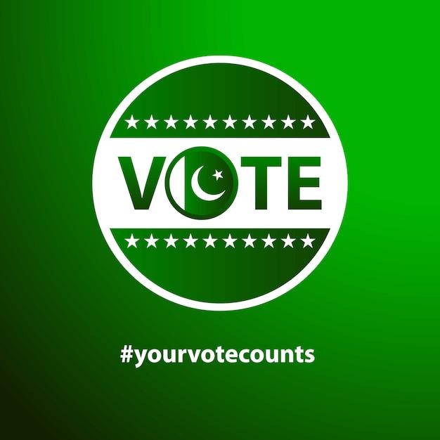 Vote for pakistan Free Vector