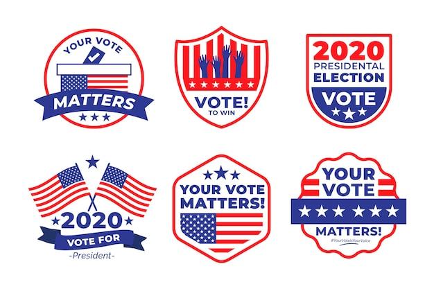 Коллекция значков для голосования Бесплатные векторы
