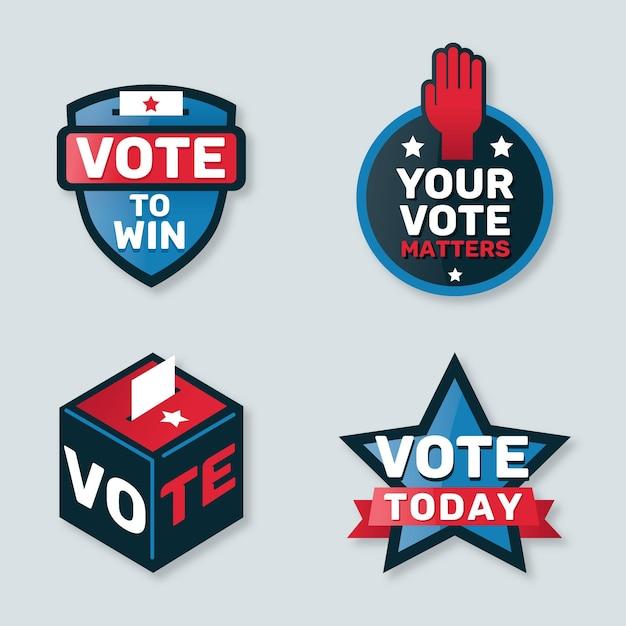 Votazione distintivi e raccolta adesivi Vettore gratuito