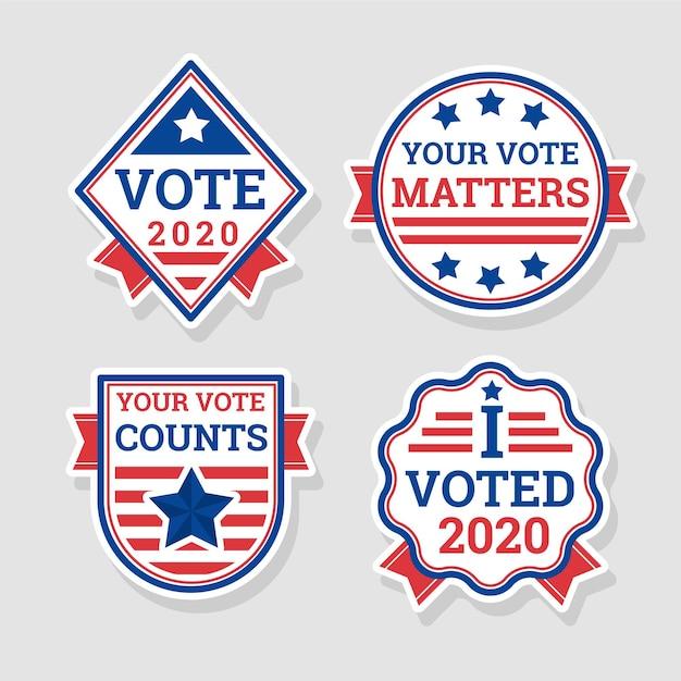 Voting badges & stickers concept Premium Vector