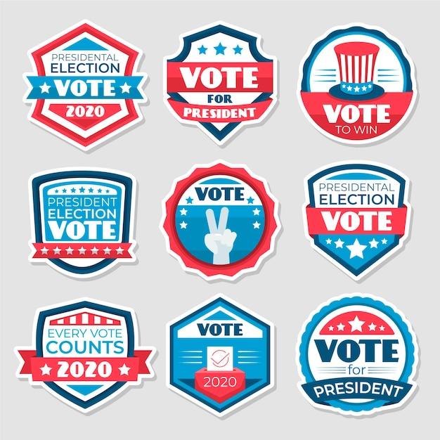 Voting badges & stickers template Premium Vector