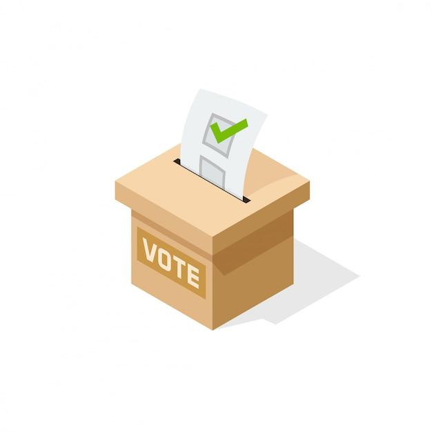 Иллюстрация ящик для голосования Premium векторы