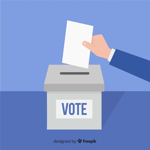 Voting concept Free Vector
