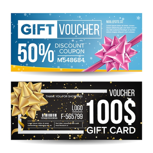 Voucher coupon Premium Vector