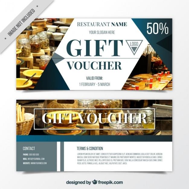 Voucher for food Vector | Free Download