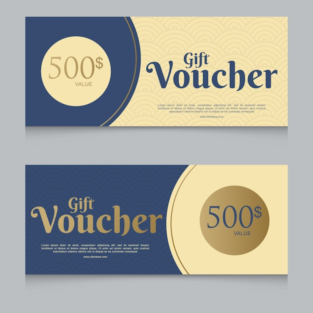 Voucher Gift Certificate Coupon Template Vector Premium Download