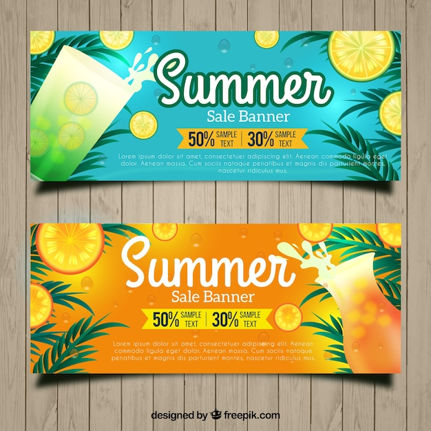 Vouchers for summer with refreshing drinks