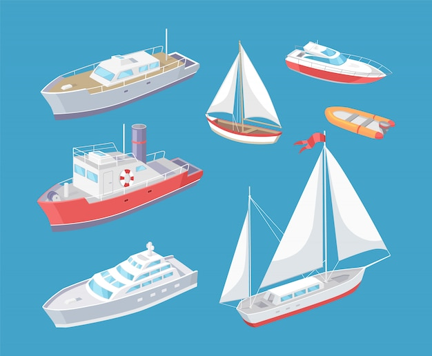 Водный транспорт путешествие судно voyage вектор Premium векторы