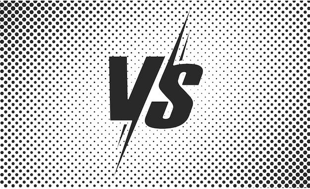 対または対の黒と白のテキストポスターの戦い Premiumベクター