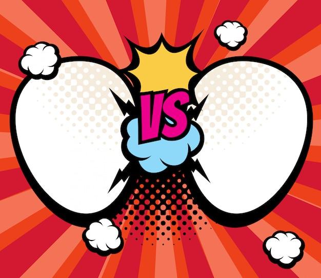 スラグ対、対名前ベクトル図の空のフレームとの戦いの背景。 vs選手権とスポーツの挑戦、対立と比較 Premiumベクター