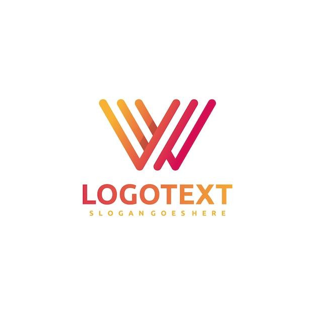 W letter -abstract logo Premium векторы