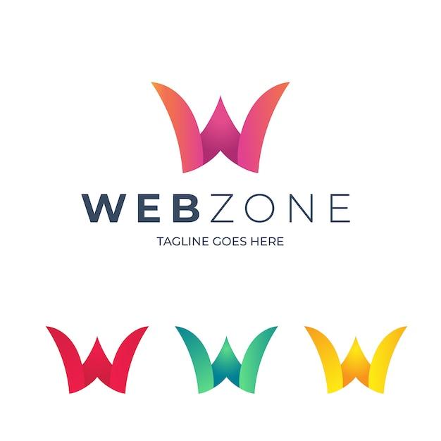 W letter logo template Premium Vector