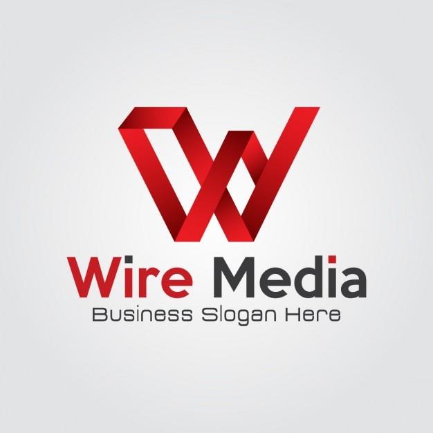Аннотация красный буква w логотип Бесплатные векторы