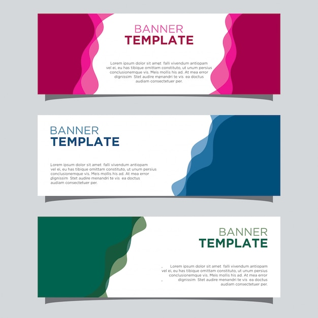 Wafy banner template Premium Vector