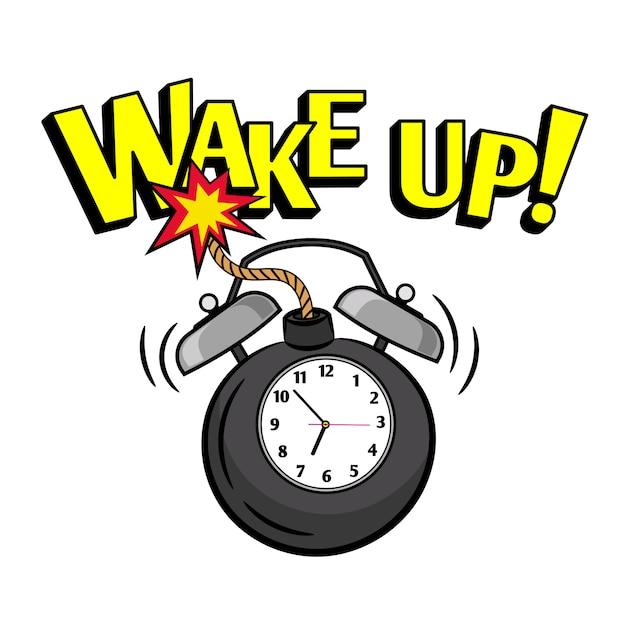 Wakeup bomb clock Premium Vector