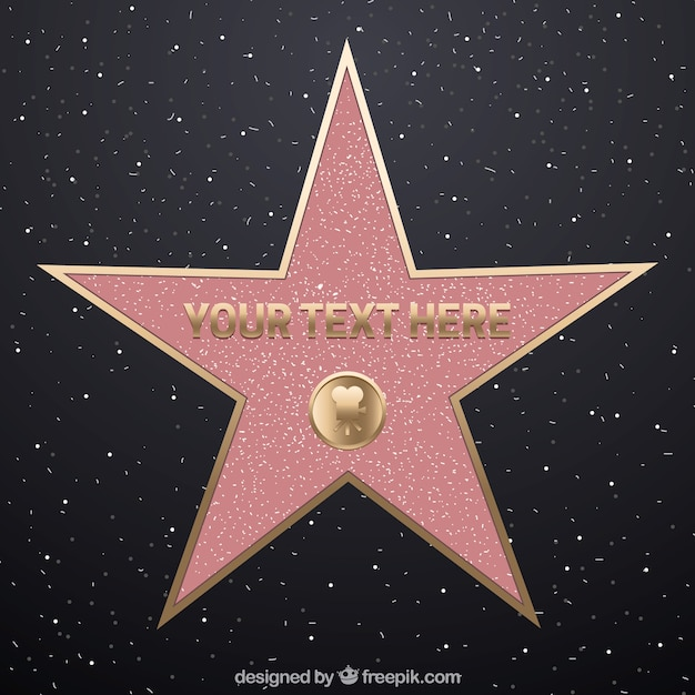 Walk of fame star background Free Vector