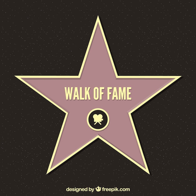 Walk of fame Free Vector