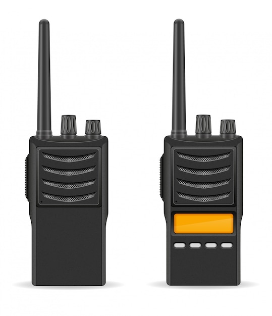 Walkie-talkie communication radio vector illustration Premium Vector