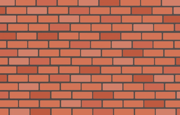 Wall of bricks background Premium Vector